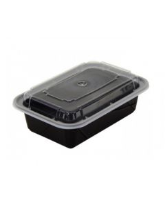 South Wing Hing Microwaveable  Container Black Base Combo  - Case 150 - 24 Oz