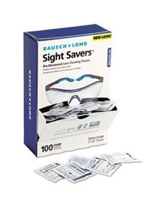 BAUSCH & LOMB, INC. Sight Savers Premoistened Lens Cleaning Tissues, 100 Tissues/Box