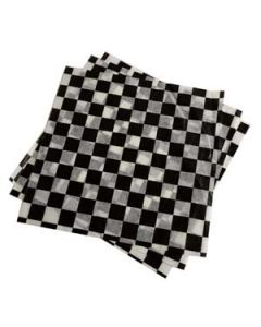 Brown Paper Goods Black Checked Wax Wrap