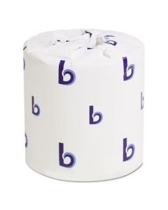 BOARDWALK  - 1-Ply Toilet Tissue- Septic Safe-  White -  4 1/2 x 4 1/2 - 1000 Sheets/Roll - 96 Rolls/Carton