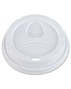 DIXIE FOOD SERVICE- Dome Drink-Thru Lids - Fits 10 oz to 16 oz Paper Hot Cups - White - 1,000/Carton