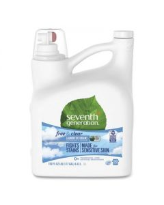 SEVENTH GENERATION Natural 2X Concentrate Liquid Laundry Detergent-  Free/Clear - 99 Loads -150oz - Cs/ 4
