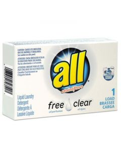 ALL - Free Clear HE Liquid Laundry Detergent- Unscented- 1.6 oz Vend-Box- 100/Carton