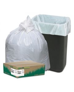 Earth Sense - Linear-Low-Density Recycled Tall Kitchen Bags - 13 gal- 0.85 mil 24